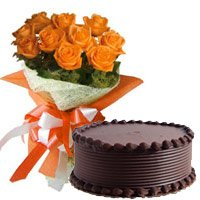 Send Flowers Cakes to Delhi