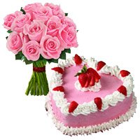 Same Day Anniversary Flower Delivery in Delhi Ajmeri Gate: Flower and Cake to Delhi Ajmeri Gate