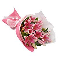 Flowers Delivery to Delhi at Midnight :  Pink Lily to Delhi