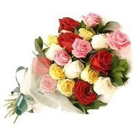 Anniversary Flowers to Delhi Vasant Kunj: Mix Roses Bouquet