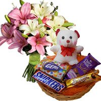 Flowers with Teddy to Delhi Shahdara