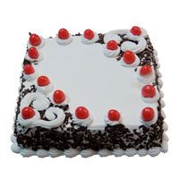 Send Cakes to Delhi Shahdara - Square Black Forest Cake