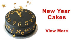 Send New Year Cakes to Delhi