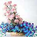 Flowers to Delhi : Send Flowers to Delhi : Orchids & Carnation Arrangement