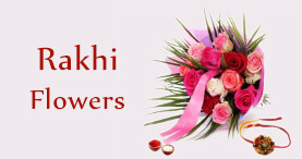 Send Rakhi Flowers to Delhi