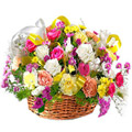 Send Flowers to Delhi : Mixed Flower Basket