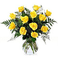 Get Well Soon Flowers to Delhi: Yellow Roses in Vase : Flowers to Delhi