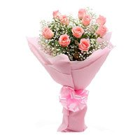 Flower Delivery in Delhi - Online Pink Rose Flowers to Delhi