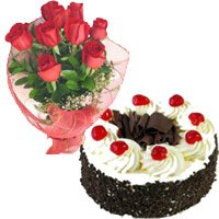 Red Roses and Black Forest Cakes to Delhi Naraina
