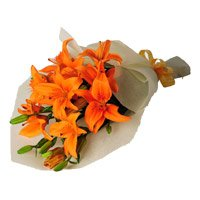 Flowers to Delhi : Orange Lily