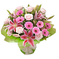 Flowers to Delhi : Pink Bouquet Flowers to Delhi